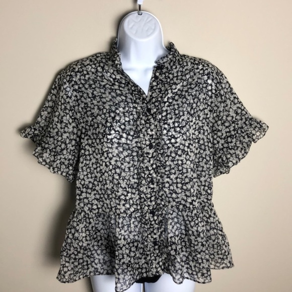 French Connection Tops - French Connection Print Blouse Size L